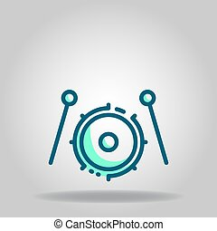 drum icon or logo in  twotone - Logo or symbol of drum icon ...