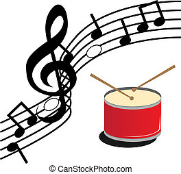 drum in a white background