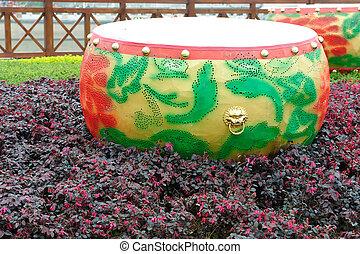 Drum in garden