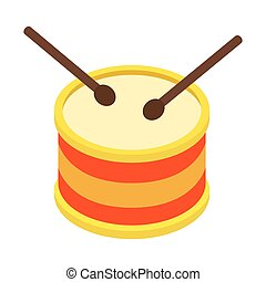 Drum isometric 3d icon