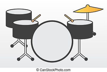 Drum Kit - Drum kit including cymbal and drumsticks