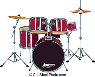 Four piece drum kit