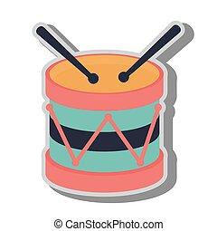 Drum kit toy icon vector illustration
