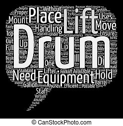 Drum Lifts Word Cloud Concept Text Background
