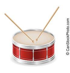 drum musical instruments stock vector illustration