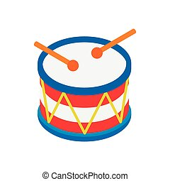 Drum of Independence Day isometric 3d icon