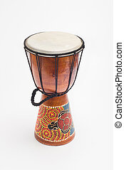 drum on a white background