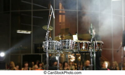 drum set at concert