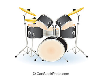 drum set - drum set illustration