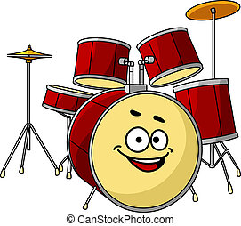 Drum set having a big happy laughing smile - Drum set for a...