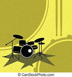 drum set on the retro style