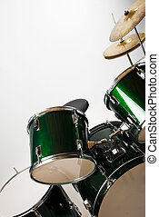 Drum set - Part of a drum set with cymbal isolated on white...
