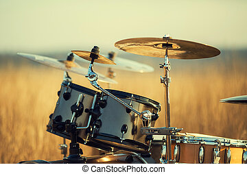 Drum set - Phorography Drum set in the field