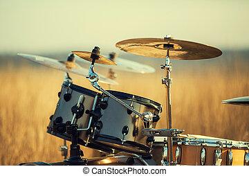 Drum set - Phorography Drum set in the field