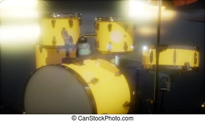 drum set with DOF and lense flair