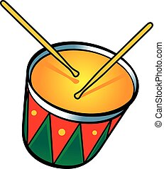 Drum - The snare drum with two drumsticks