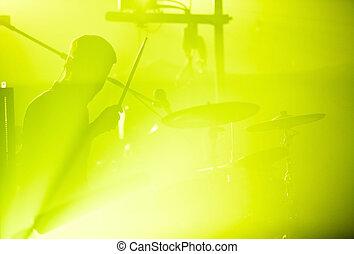 drumer, silhouette