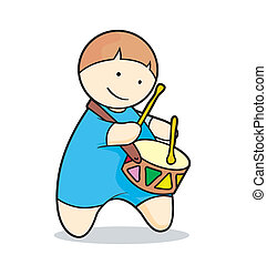 drummer boy playing music instrument on foot