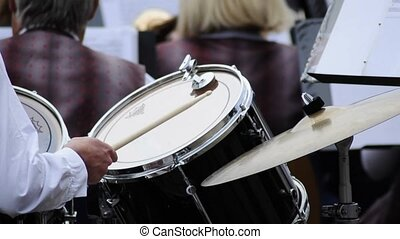 drummer of a brass band