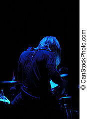 Drummer from behind