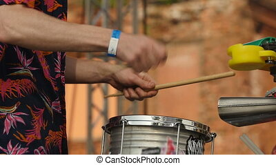 drummer, Jazz band performance close to