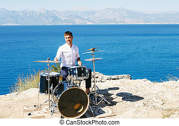 Drummer Outdoors
