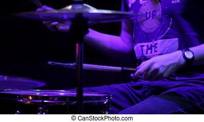 Drummer perform at a concert