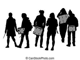Drummers on street