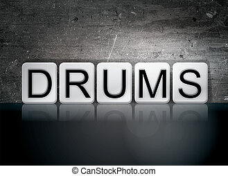 Drums Concept Tiled Word