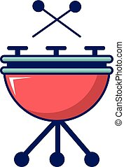 Drums icon, cartoon style