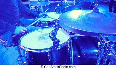 drums., muzyczne instrumenty