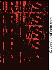 Drums vintage style grunge poster.