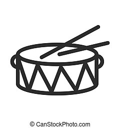 Drum, sound, music icon vector image. Can also be used for christmas, celebrations, observances and holidays. Suitable for use on web apps, mobile apps and print media.