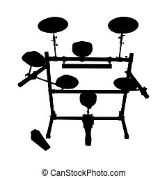 drumstel, silhouette