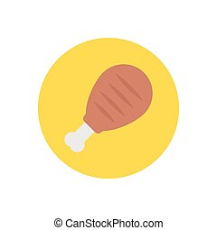 drumstick  flat color icon