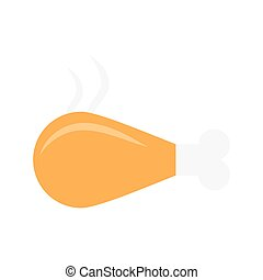 drumstick flat icon