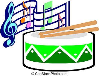 drumsticks, tambor