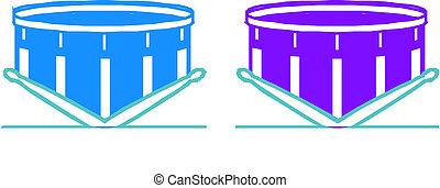 drumsticks, tambores