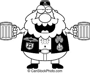 Drunk Cartoon Biker