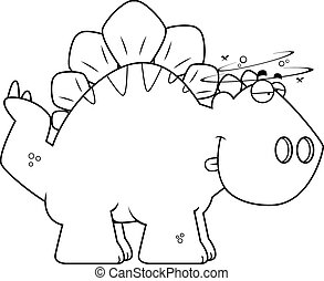 Drunk Cartoon Stegosaurus
