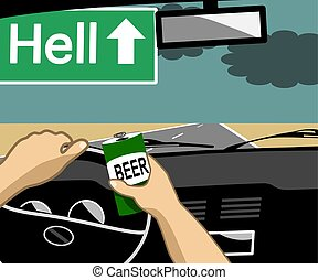 Drunk driving can cause accidents and can be fatal.