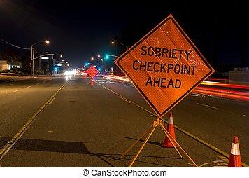 Drunk Driving - A DUI check point in Anaheim, CA.