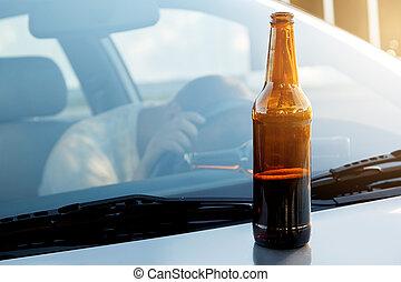 Drunk guy in the car