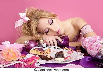 drunk party princess barbie pink fashion woman
