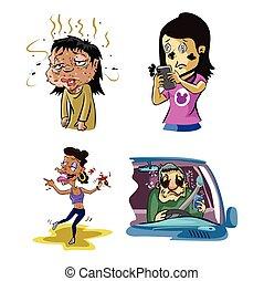 drunk people illustration design