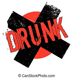 Drunk rubber stamp