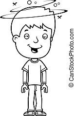 Drunk Teen Boy - A cartoon illustration of a teenage boy...