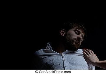 Drunk, unconscious man
