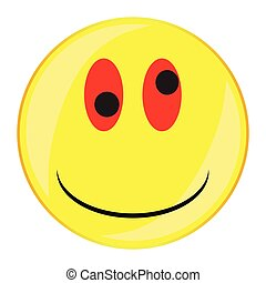 Drunken Smile Face Button Isolated