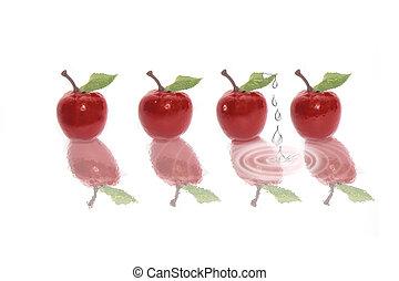druppels, 2, appel